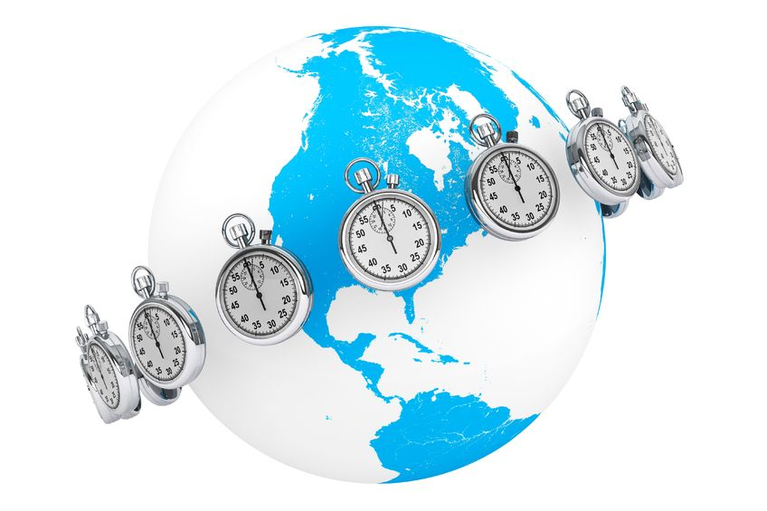 Time zones around the world